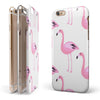 Bright Pink Flamingo Pattern iPhone 6/6s or 6/6s Plus 2-Piece Hybrid INK-Fuzed Case