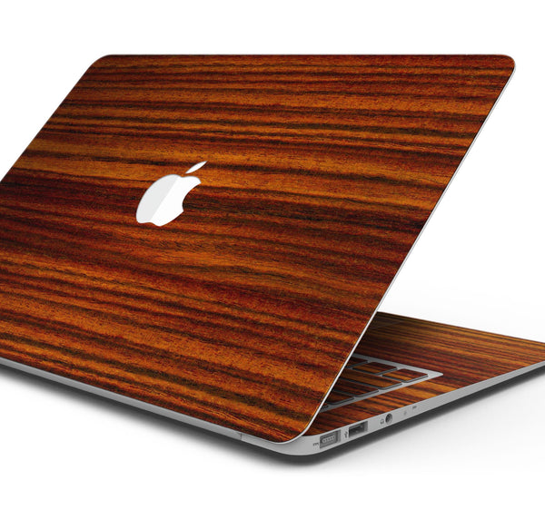"Bright Red Ebony Woodgrain - Skin Decal Wrap Kit Compatible with the Apple MacBook Pro, Pro with Touch Bar or Air (11"", 12"", 13"", 15"" & 16"" - All Versions Available)"