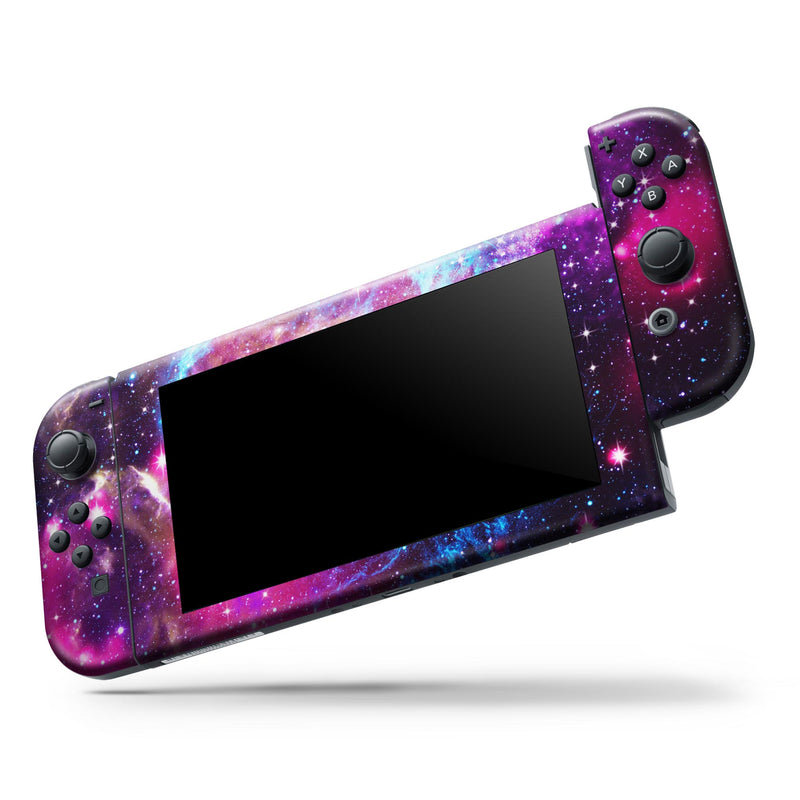 Bright Trippy Space - Full Body Skin Decal Wrap Kit for Nintendo Switch Console & Dock, Pro Controller, Switch Lite, 3DS XL, 2DS XL, DSi, Wii