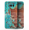 Bright Turquise Rusted Surface - Samsung Galaxy S8 Full-Body Skin Kit