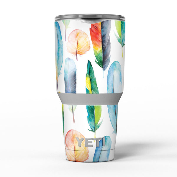 Bright_Water_Color_Painted_Feather_-_Yeti_Rambler_Skin_Kit_-_30oz_-_V5.jpg