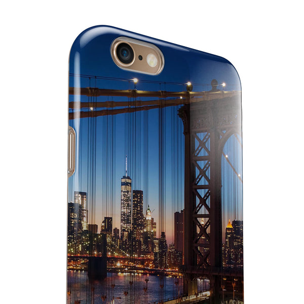 Brooklyn Glimpse iPhone 6/6s or 6/6s Plus 2-Piece Hybrid INK-Fuzed Case