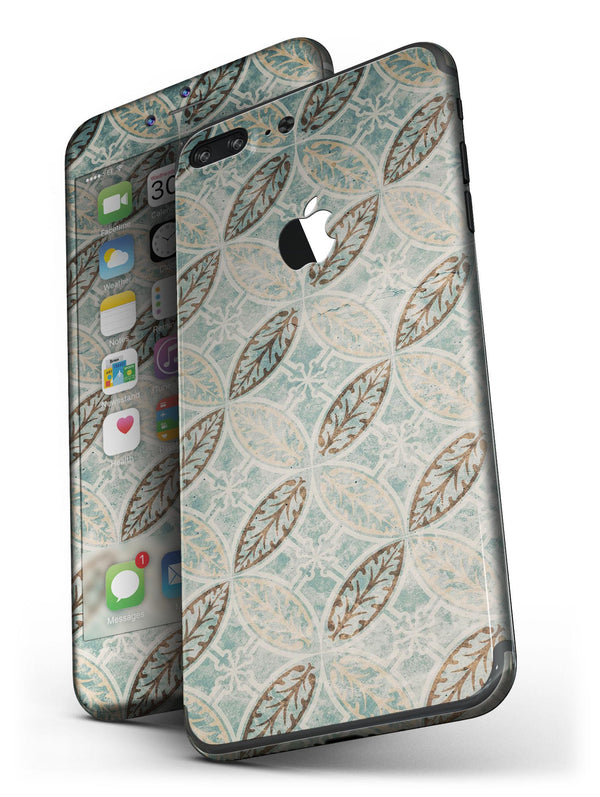 Brown_Blue_and_Tan_Circle_Leaf_Pattern_-_iPhone_7_Plus_-_FullBody_4PC_v4.jpg