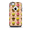 Brown, Pink and Yellow Cupcake Collage Skin for the iPhone 5c OtterBox Commuter Case