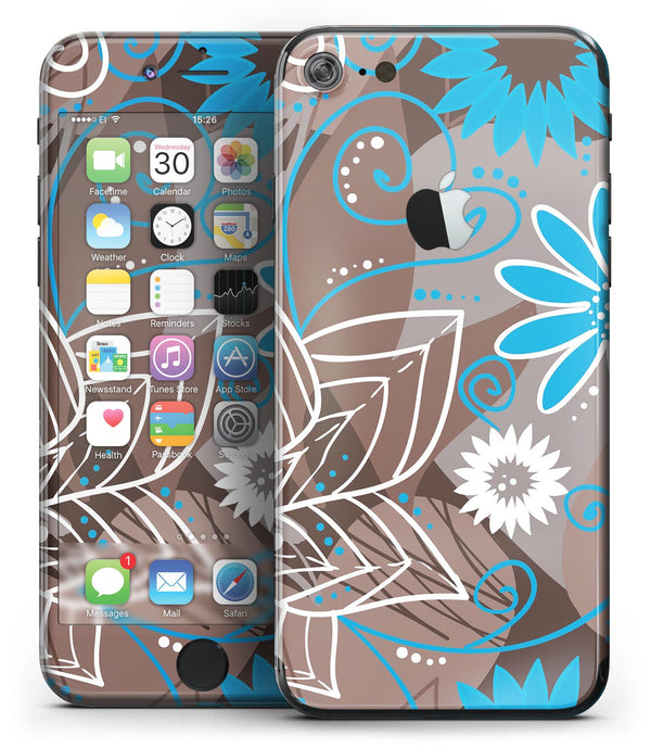 Brown_Surface_with_Blue_and_White_Whymsical_Floral_Pattern_-_iPhone_7_-_FullBody_4PC_v2.jpg