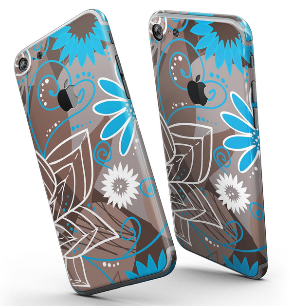 Brown_Surface_with_Blue_and_White_Whymsical_Floral_Pattern_-_iPhone_7_-_FullBody_4PC_v3.jpg