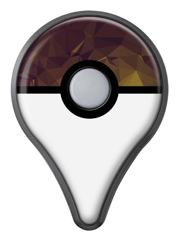 Brown and Gold Geometric Triangles Pokémon GO Plus Vinyl Protective Decal Skin Kit