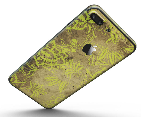 Brown_and_Lime_Green_Floral_Damask_Pattern_-_iPhone_7_Plus_-_FullBody_4PC_v5.jpg
