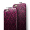 Burgandy Falling Micro Hearts iPhone 6/6s or 6/6s Plus 2-Piece Hybrid INK-Fuzed Case