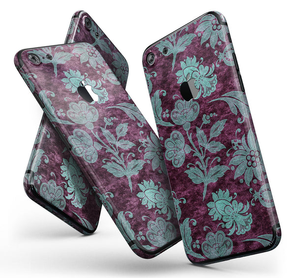 Burgundy_and_Turquoise_Floral_Velvet_-_iPhone_7_-_FullBody_4PC_v11.jpg