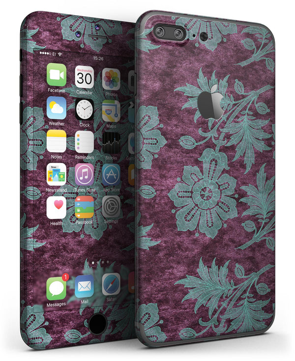 Burgundy_and_Turquoise_Floral_Velvet_v2_-_iPhone_7_Plus_-_FullBody_4PC_v3.jpg