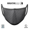 Carbon Fiber Texture - Made in USA Mouth Cover Unisex Anti-Dust Cotton Blend Reusable & Washable Face Mask with Adjustable Sizing for Adult or Child