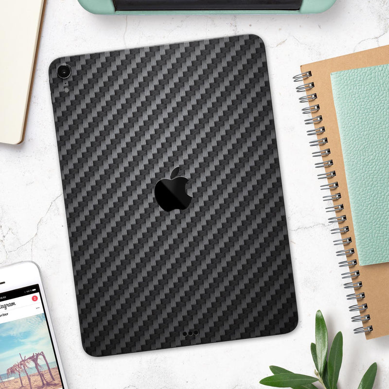"Carbon Fiber Texture - Full Body Skin Decal for the Apple iPad Pro 12.9"", 11"", 10.5"", 9.7"", Air or Mini (All Models Available)"