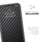 Carbon Fiber Texture - Skin-Kit compatible with the Apple iPhone 12, 12 Pro Max, 12 Mini, 11 Pro or 11 Pro Max (All iPhones Available)