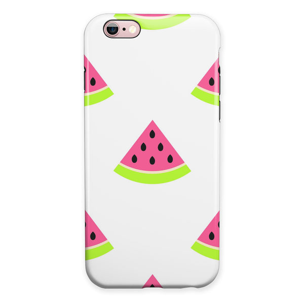 Cartoon Watermelon Pattern iPhone 6/6s or 6/6s Plus 2-Piece Hybrid INK-Fuzed Case