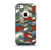 Choppy 3d Red & Green Zigzag Pattern Skin for the iPhone 5c OtterBox Commuter Case