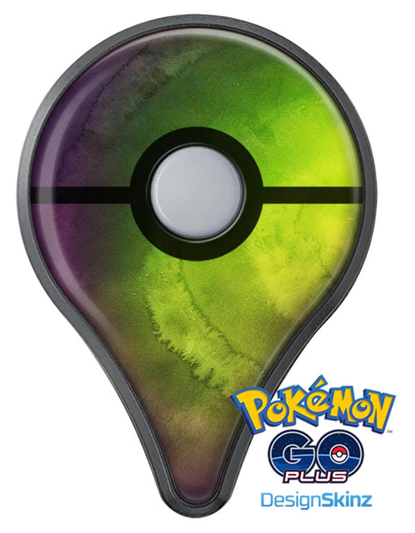 Circled Dark Absorbed Watercolor Texture Pokémon GO Plus Vinyl Protective Decal Skin Kit