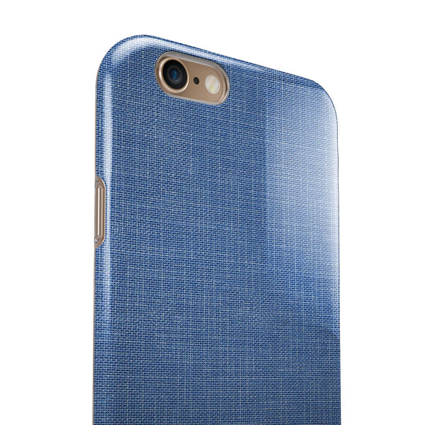 Cobalt Scratched Fabric Surface iPhone 6/6s or 6/6s Plus 2-Piece Hybrid INK-Fuzed Case
