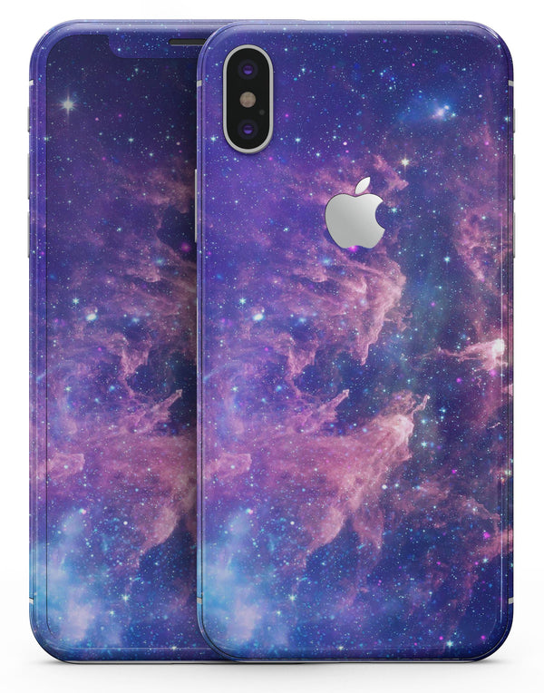 Colorful Nebula - iPhone X Skin-Kit