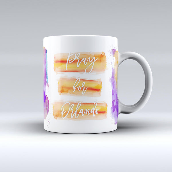Pray For Orlando v10 - ink-Fuzed Ceramic Coffee Mug