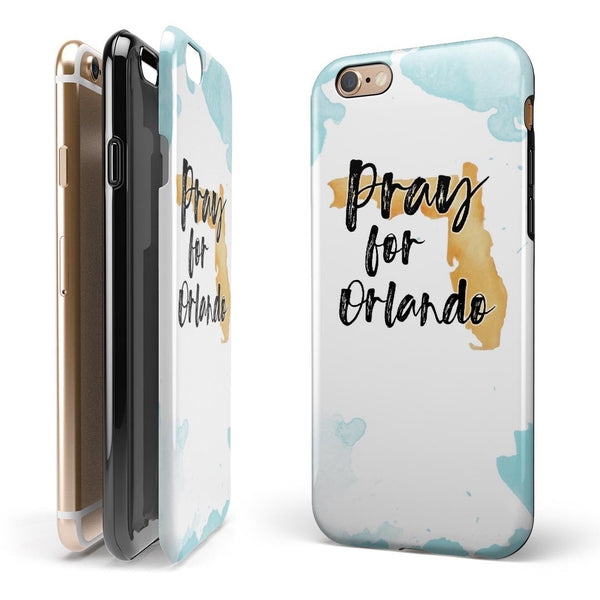Pray For Orlando v1 2-Piece Hybrid INK-Fuzed Case for the iPhone 6/6s or 6/6s Plus