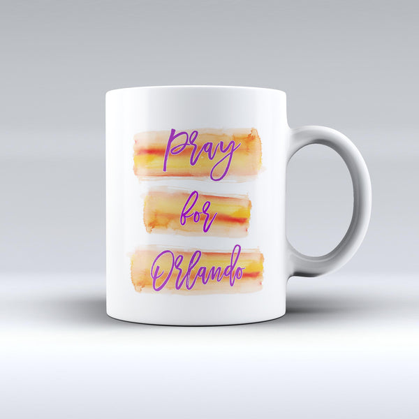 Pray For Orlando v8 - ink-Fuzed Ceramic Coffee Mug