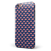 Coral Micro Cloud Swirls Over Navy iPhone 6/6s or 6/6s Plus 2-Piece Hybrid INK-Fuzed Case