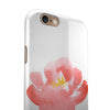 Coral Watercolor Hibiscus iPhone 6/6s or 6/6s Plus 2-Piece Hybrid INK-Fuzed Case