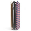 Coral and Navy Plaid Pattern iPhone 6/6s or 6/6s Plus 2-Piece Hybrid INK-Fuzed Case