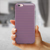 Coral and Nay Horizontal Lines iPhone 6/6s or 6/6s Plus 2-Piece Hybrid INK-Fuzed Case