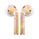 Cotton Candy Oil Mix - Full Body Skin Decal Wrap Kit for the Wireless Bluetooth Apple Airpods Pro, AirPods Gen 1 or Gen 2 with Wireless Charging