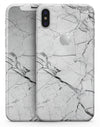 Cracked White Marble Slate - iPhone X Skin-Kit
