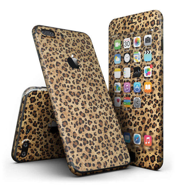 Custom leopard animal print 4 piece skin kit for the iphone 7 or 7
