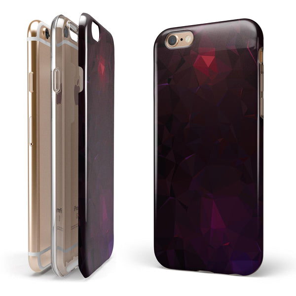 Dark Age Geometric V13 iPhone 6/6s or 6/6s Plus 2-Piece Hybrid INK-Fuzed Case