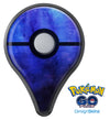Dark Blue Absorbed Watercolor Texture Pokémon GO Plus Vinyl Protective Decal Skin Kit