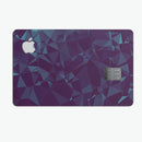 Dark Blue Geometric V15 - Premium Protective Decal Skin-Kit for the Apple Credit Card