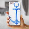 Dark Blue Watercolor Anchor iPhone 6/6s or 6/6s Plus 2-Piece Hybrid INK-Fuzed Case