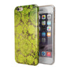 Dark Brown and Lime Green Cauliflower Damask Pattern iPhone 6/6s or 6/6s Plus 2-Piece Hybrid INK-Fuzed Case
