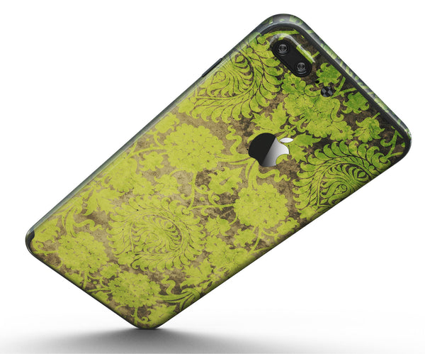 Dark_Brown_and_Lime_Green_Cauliflower_Damask_Pattern_-_iPhone_7_Plus_-_FullBody_4PC_v5.jpg