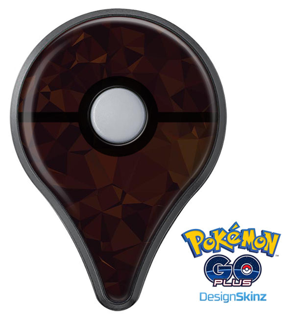 Dark Copper Abstract Geometric Shapes Pokémon GO Plus Vinyl Protective Decal Skin Kit