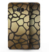 Dark Gold Flaked Animal v5 - Samsung Galaxy S8 Full-Body Skin Kit