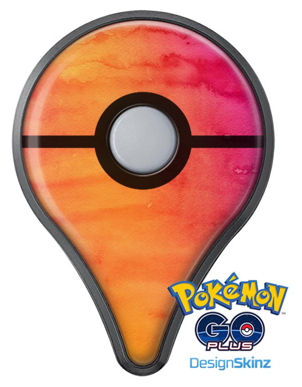 Dark Orange Absorbed Watercolor Texture Pokémon GO Plus Vinyl Protective Decal Skin Kit