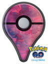 Dark Pink 53 Absorbed Watercolor Texture Pokémon GO Plus Vinyl Protective Decal Skin Kit