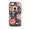 Dark Purple & Colorful Floral Pattern Skin for the iPhone 5c OtterBox Commuter Case
