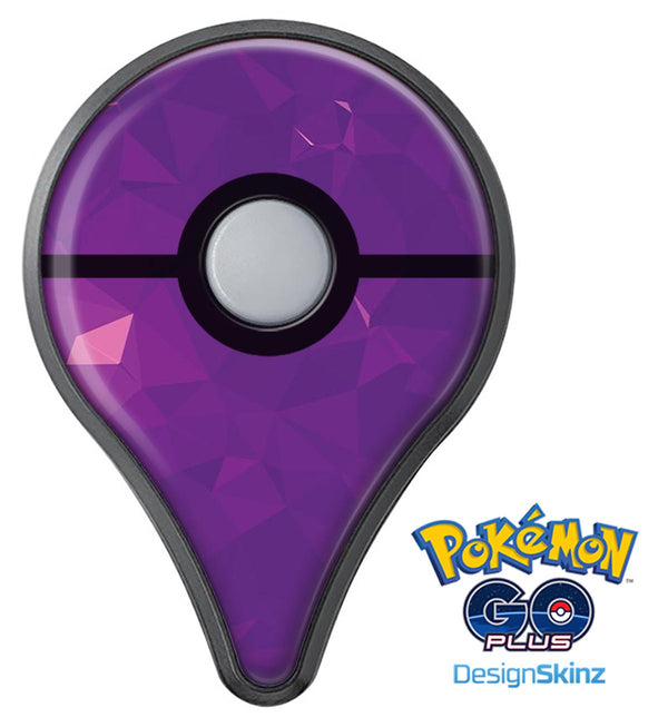 Dark Purple Geometric V15 Pokémon GO Plus Vinyl Protective Decal Skin Kit