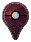 Dark Red Geometric V15 Pokémon GO Plus Vinyl Protective Decal Skin Kit