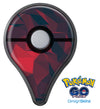Dark Red Geometric V16 Pokémon GO Plus Vinyl Protective Decal Skin Kit