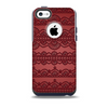 Dark Red Highlighted Lace Pattern Skin for the iPhone 5c OtterBox Commuter Case