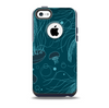 Dark Vector Teal Jelly Fish Skin for the iPhone 5c OtterBox Commuter Case