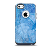 Deep Blue Ice Texture Skin for the iPhone 5c OtterBox Commuter Case